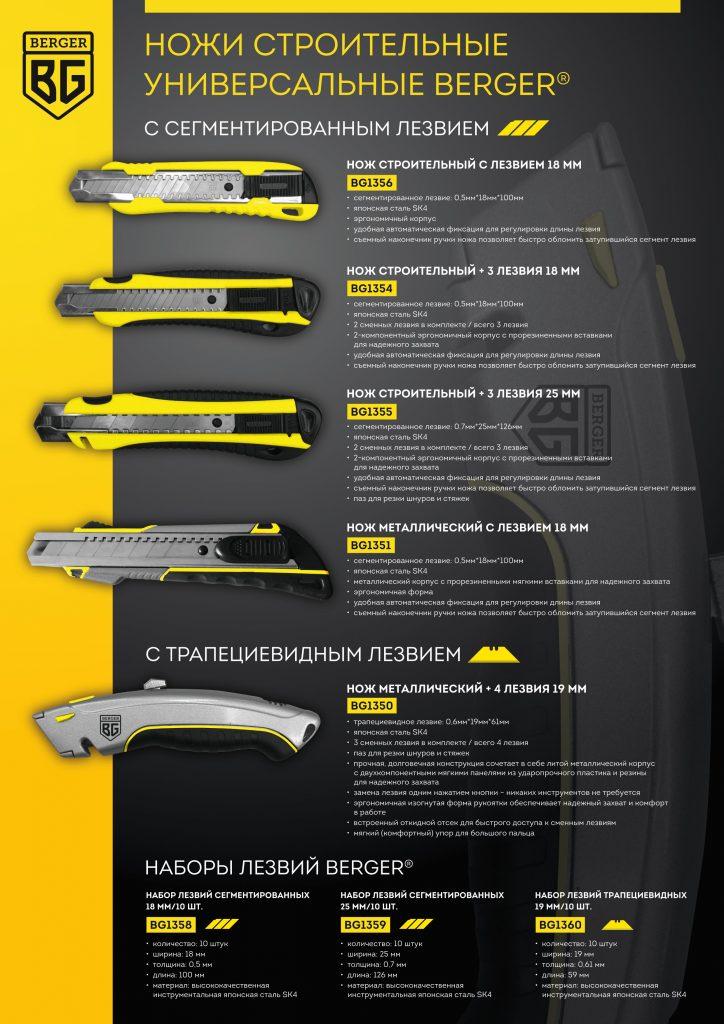 Ножи строительные BERGER